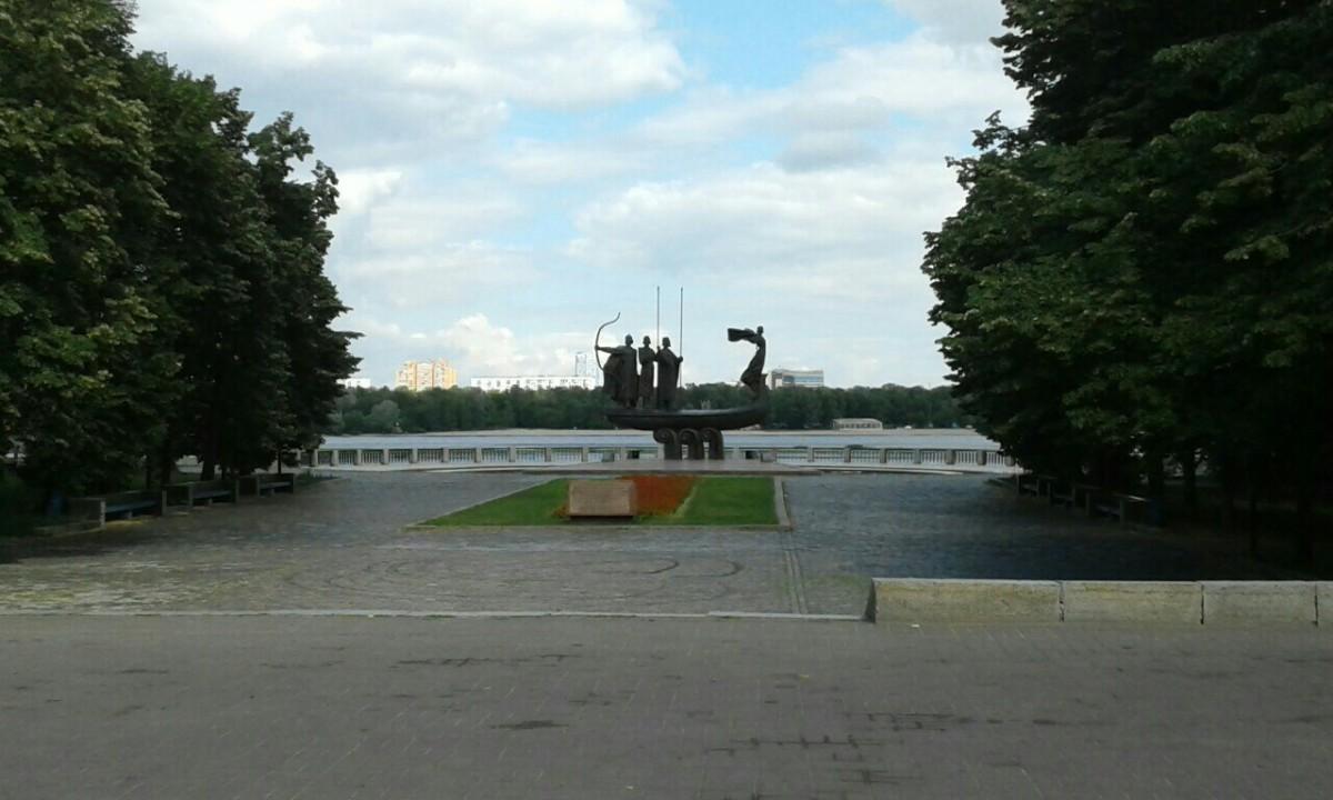 Zdjęcia: Park Nowodnycki, Kijów, Pomnik założycieli Kijowa-2, UKRAINA