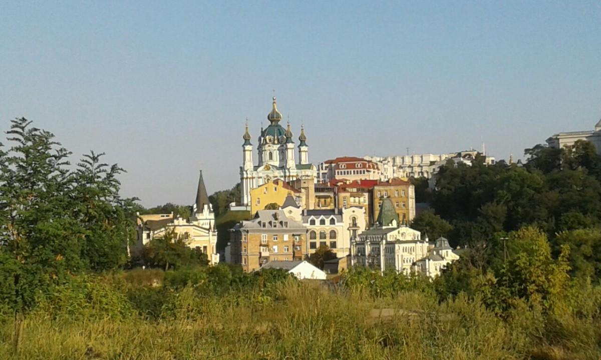 Zdjęcia: Zejście św. Andrzeja, Kijów, Widok z Góry Zamkowej na Zejście św. Andrzeja, UKRAINA