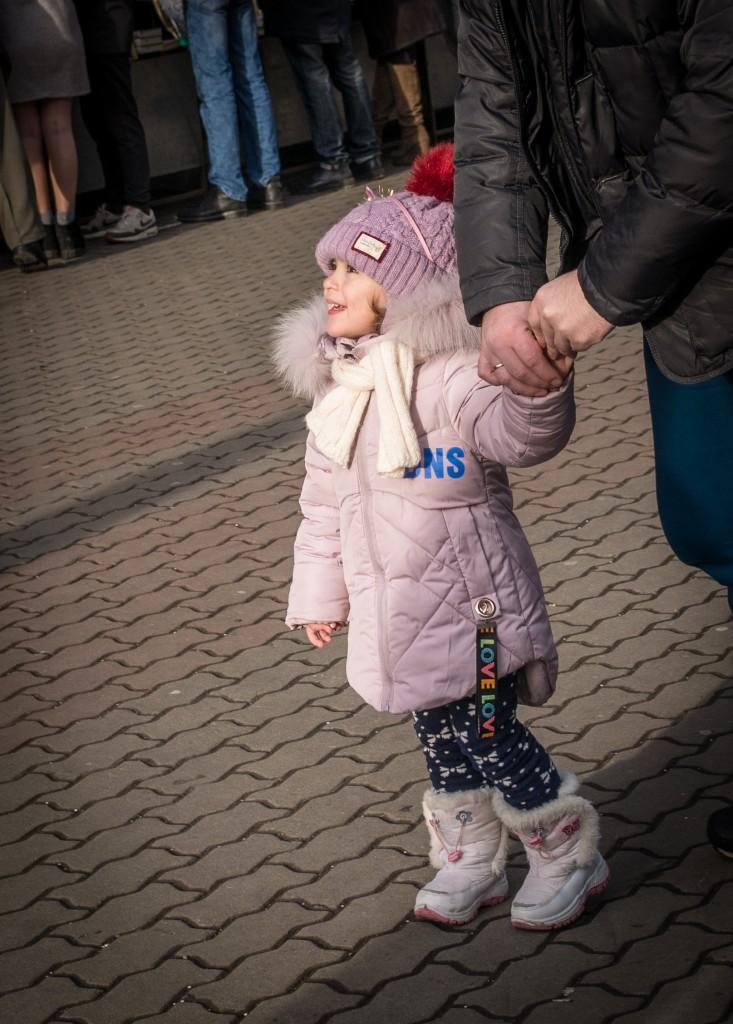 Zdjęcia: Iwanofrankiwsk, obwód iwanofrankowski, zachwyt nad choinką, UKRAINA