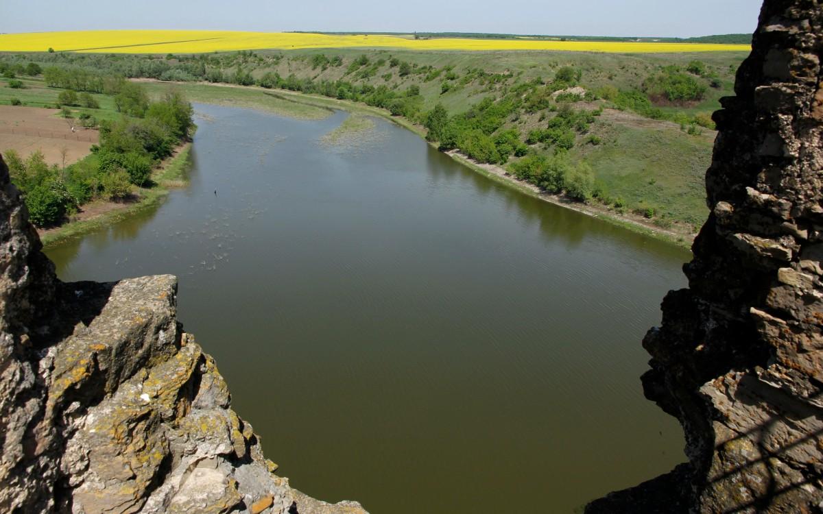 Zdjęcia: Żwaniec, Podole, Widok z ruin zamku w Żwańcu, UKRAINA