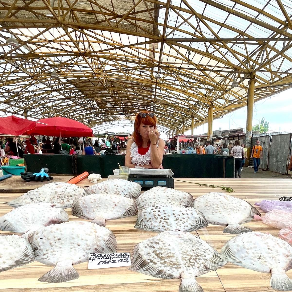 Zdjęcia: Рынок Привоз, Odessa, Ryby z Morza Czarnego, UKRAINA