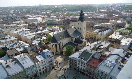 Zdjecie UKRAINA / Województwo Lwowskie / Lwów / Panorama Lwowa z wieży ratuszowej