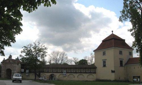 Zdjęcie UKRAINA / Lwowski / Żółkiew / fragment zamku Sobieskich z Bramą Glińską