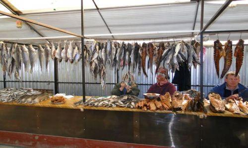 UKRAINA / przed miastem Nemiriw / targ rybny / Targ rybny