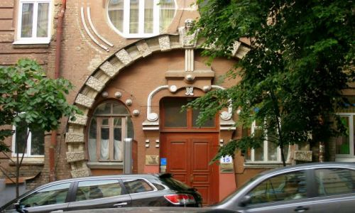 Zdjecie UKRAINA / - / Kijów / Wejście do kamieniczki