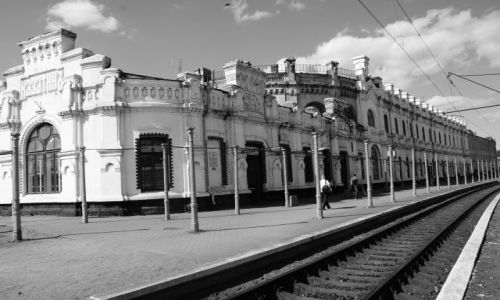 Zdjecie UKRAINA / - / Gdzieś między Symferopolem a Lwowem / Ukraiński dworzec nr 1