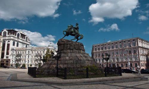 UKRAINA / - / Kijów / Pomnik Chmielnickiego