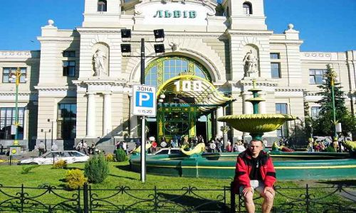 UKRAINA / Kaukaz / Dworzec Kolejowy / Lwów