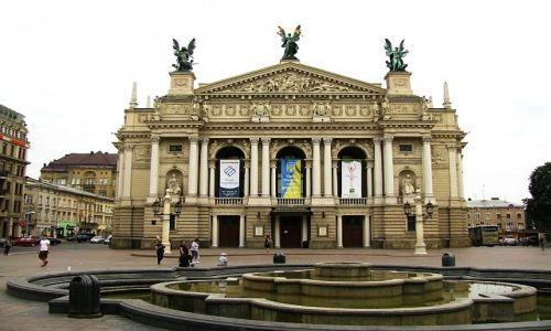 Zdjęcie UKRAINA / Ukraina Zachodnia / Lwów / budynek opery