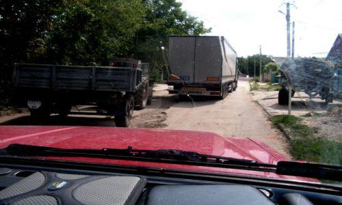 UKRAINA / - / Obwodnica Renii / Szalony traktorzysta