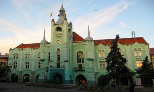 Zdjęcie UKRAINA / Zakarpacie / Mukaczewo / Ratusz miejski
