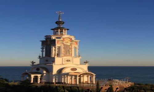 Zdjecie UKRAINA / Krym / Malorechenskoje / Swiątynia-latarnia morska Świętego Mikołaja