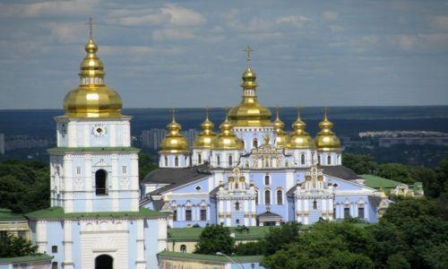 Zdjecie UKRAINA / Obwód kijowski  / Kijów / Monaster św. Michała Archanioła o Złotych Kopułach