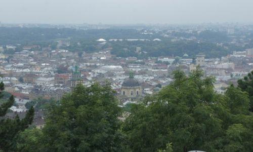 Zdjęcie UKRAINA / Zachodnia Ukraina / Lwów / Wysoki Zamek - panorama Lwowa