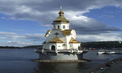Zdjecie UKRAINA / - / Kijów / Kijów - cerkiew nad Dnieprem