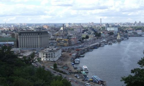 Zdjecie UKRAINA / - / Kijów / Kijów - widok na port