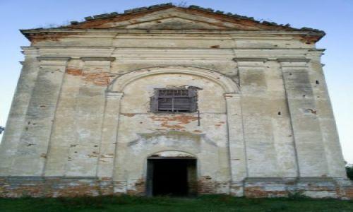 Zdjecie UKRAINA / podole / Mańkivci / ruiny kościoła