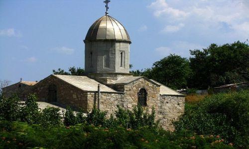 Zdjęcie UKRAINA / Krym / twierdza genueńska,Teodozja / Chram na cześć Matki Boskiej Twerskiej