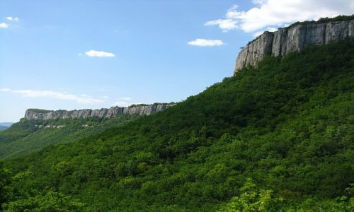 Zdjęcie UKRAINA / Krym / okolice Bakczysaraju / trekking do Tepe Kermen