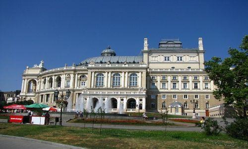 UKRAINA / Obwód Odeski / Odessa / budynek opery odeskiej