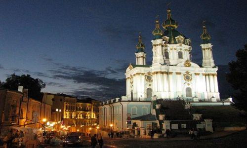 Zdjęcie UKRAINA / Obwód Kijowski / Kijów / cerkiew św, Andrzeja