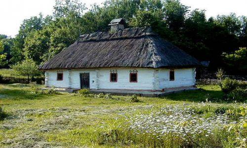 Zdjecie UKRAINA / brak / Mychajliwka / stara ukraińska chata