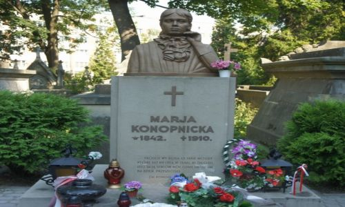 UKRAINA / Lwów / Cmentarz Łyczakowski / Grób Marii Konopnickiej
