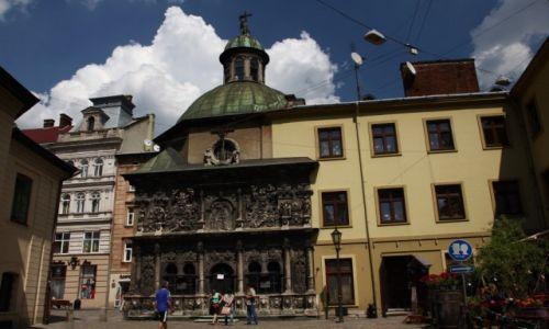 Zdjęcie UKRAINA / Zachodnia Ukraina / Lwów / Kaplica Boimów w obłoczkach