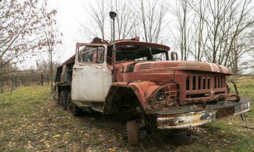 Zdjecie UKRAINA / - / Czarnobylska Strefa Wykluczenia / Wóz strażacki