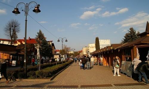 Zdjęcie UKRAINA / obwód lwowski / Truskawiec / deptak