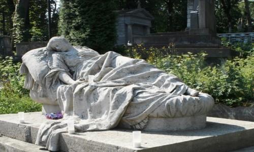 Zdjecie UKRAINA / Lwów / Cmentarz Łyczakowski / Grób Józefy Markowskiej