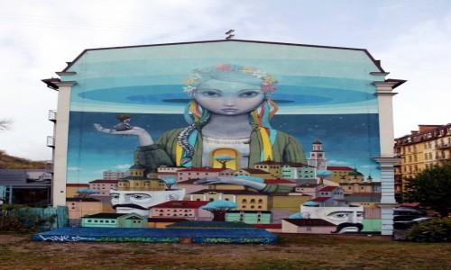 Zdjecie UKRAINA / Kijów / Andriejewskij Spusk (Zjazd) / Mural