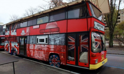 UKRAINA / Kijów / Plac Lwowski / Coffe Bus Club
