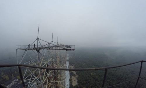 Zdjecie UKRAINA / obwód Kijowski / Czarnobyl-2 / Szczyt anteny radaru DUGA