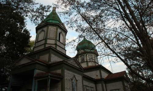 Zdjecie UKRAINA / obwód Kijowski / Krasne / Cerkiew we wsi Krasne