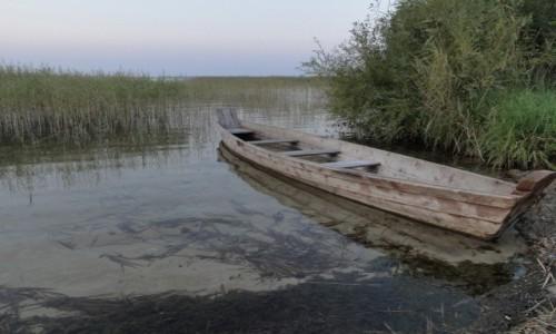 Zdjecie UKRAINA / Świtaź / Świtaź / Łódka nad jeziorem Świtaź