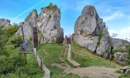Zdjęcie UKRAINA / obwód Lwowski / urycz  / Tustan - ruiny zamku