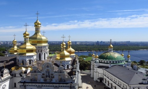 UKRAINA / Kijów / Ławra Peczerska / Sobór Uspienski