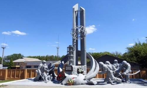 Zdjęcie UKRAINA / Czarnobyl / Czarnobyl / Pomnik strażaków