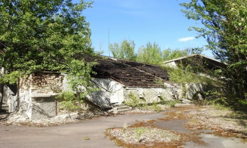 Zdjecie UKRAINA / Czarnobyl / Prypeć / Tu był stadion