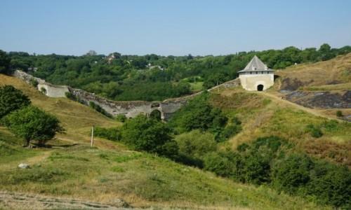 Zdjęcie UKRAINA / Czerniowce / Zamek w Chocimiu / Mur