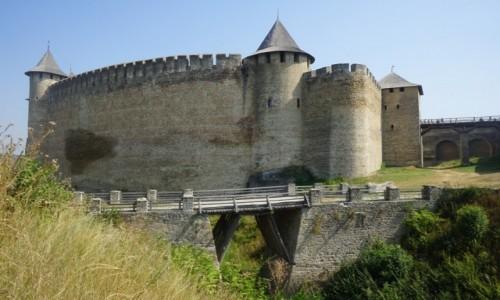 Zdjęcie UKRAINA / Czerniowce / Zamek w Chocimiu / Mostek