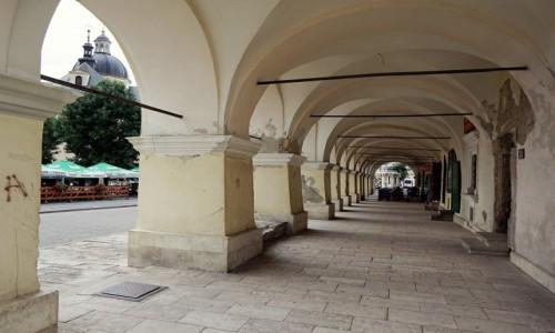 Zdjecie UKRAINA / Obwód Lwowski / Żółkiew / Podcienia kamienicy rynkowej z XVII w,