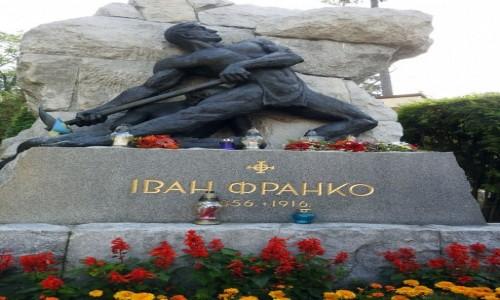 UKRAINA / Lwów / Cmentarz Łyczakowski / Iwan Franko