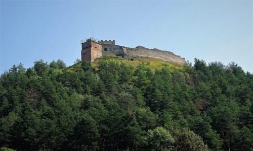 UKRAINA / Obwód Tarnopolski / Krzemieniec / Góra Królowej Bony z ruinami zamku