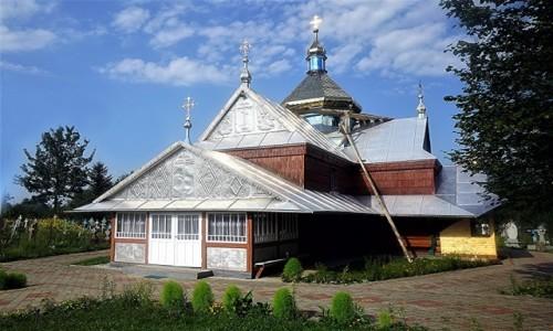 Zdjecie UKRAINA / Obwód Iwanofrankiwski / Pistyń / Cerkiew pw Wniebowstąpienia Najświętszej Dziewicy Bogurodzicy