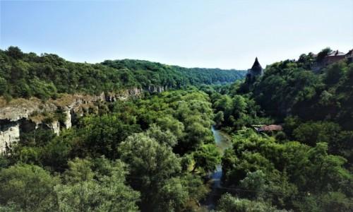 UKRAINA / Chmielnicki  / Kamieniec Podolski  / Wąwóz rzeki Smotrycz.