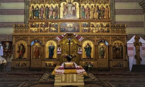 Zdjęcie UKRAINA / Czerniowce  / Uniwersytet Narodowy im. Jurija Fedkowycza / Cerkiew seminaryjna, ikonostas