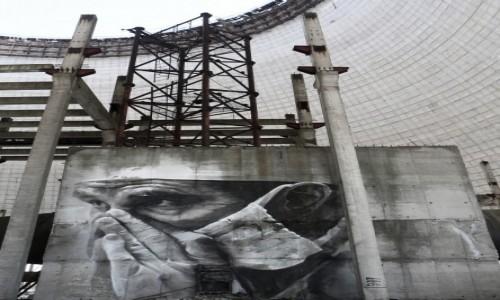 Zdjęcie UKRAINA / obwód Kijowski / Czarnobyl/Prypeć / wnetrze chlodni kominowych