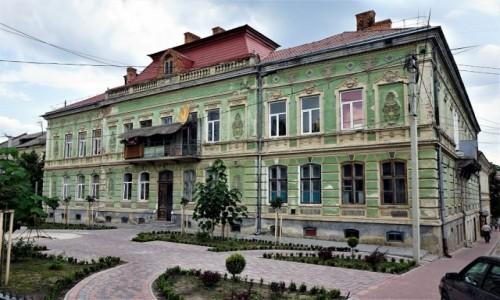 Zdjęcie UKRAINA / Obwód Tarnopolski / Brzeżany / Zielona kamienica
